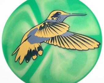 Multicolored Hummingbird Silicone Table Placemat,Table Trivet, Kitchen  Hot Pad