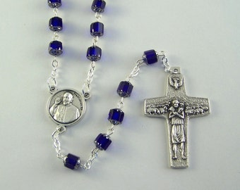 Pope Francis Rosary with Good Shepherd Cross (115)