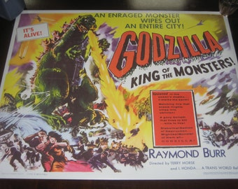 Godzilla King of Monsters movie poster 24x32in Raymond Burr