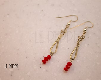 Red Drops Earrings