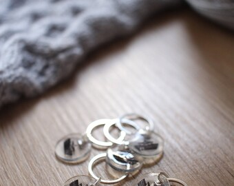 Set of 5 ring markers, knitting or crochet - Ahoy sailor