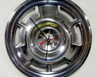 1967 Chevrolet Camaro Hubcap Clock - 67 Chevy Wall Decor
