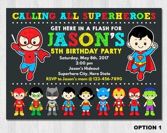 Superhero Invitation, Superhero Birthday Invitation, Super hero invitation,  superhero invitation printable, Superhero party invitation