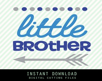 little brother arrow Svg ,Png,JPG ,DXF cutting file Cricut silhouette cameo cut file - Instant Download - ( Brother collection no.2)