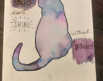 Handmade Poster - Stars Can't Shine Without Darkness