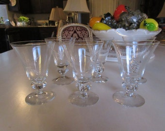 SIX GLASSES with STARS