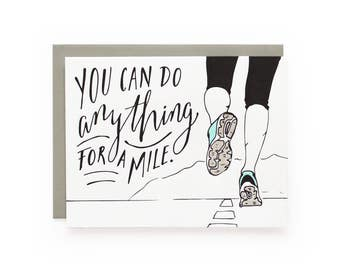 Anything For A Mile - letterpress card