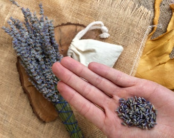 Lavender Sachet - Lavender Bag - Dried Lavender Flower - Sleep Aid - Relaxation Gifts