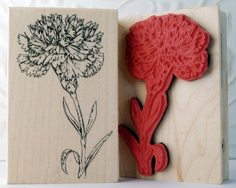 Carnation Flower rubber stamp from oldislandstamps