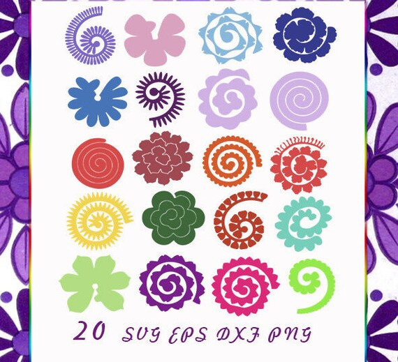 Rolled paper flowers 20 svg pdf file included cutting rolled paper flowers 20 svg pdf file included cutting files flowers origami rolled paper flowersorigami svg diy flower decor mightylinksfo Gallery