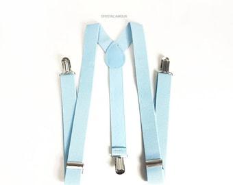 mens suspenders, baby blue suspenders, powder blue suspenders, light blue suspenders, dusty blue suspenders, dusty blue, pastel blue