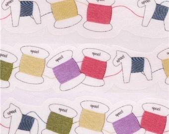 191195 white die-cut sewing yarn spool Masking Tape deco tape Japan