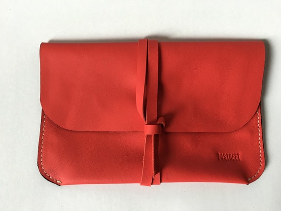 Red Leather Clutch, Day Clutch, Evening Clutch, Leather Purse, Woman Purse, Evening purse