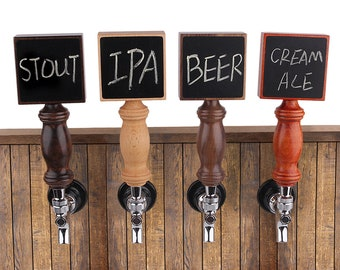 Custom Tap Handle, Custom Beer Tap Handle, Custom Tap Handle Chalkboard, Beer Tap Handle Display, Bar Tap, Made of Wood, for Kegerator