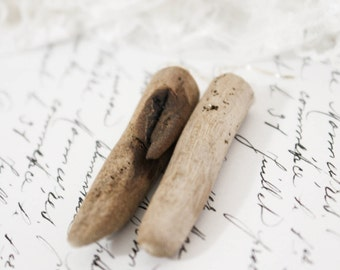 Natural Australian Driftwood Drop Earrings with Sterling Silver Plated Ear Wires/Hooks (Untreated), Beach Wood
