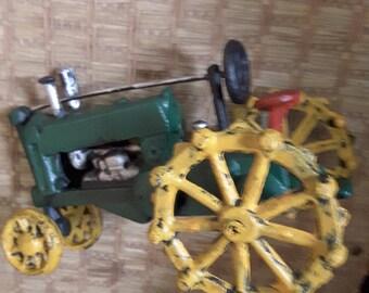Vintage Cast Iron Tractor