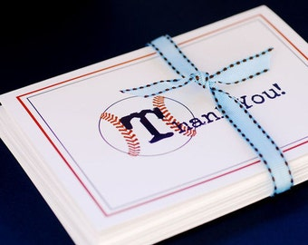 Baseball Themed Thank You Cards - set of 30