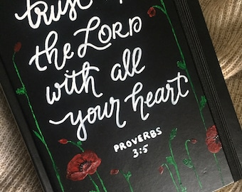 Custom Bible, Hand-painted Bible, Christian Gifts for her, ESV Journaling Bible, Scripture Gift, Wedding Bible