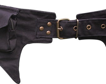 Utility Belt / Pocket Belt / Festival Belt / Waist Bag / Money Belt with a hint of Batman Style