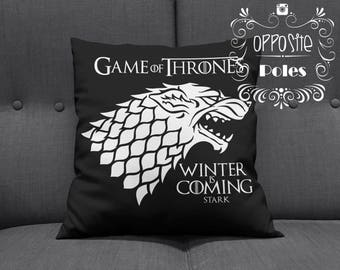 Sale !! Game of Thrones - Winter is Coming - Stark - tv show - Game of Thrones Stark - Pillow Cover - cushion cover - Pillow