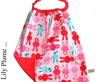 napkin rabbit pink elasticated child