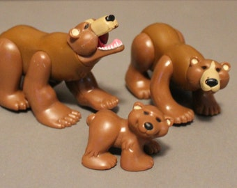 Vintage Fisher Price Brown Bear Family can work with  #72583 Animal Families Nature Park 1990's