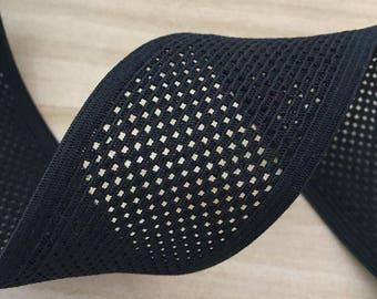 "2"" 5 cm Wide Vented Breathable Elastic, Waistband Elastic, Sewing elastic"