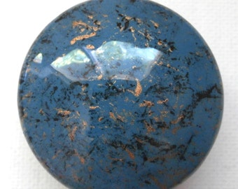 Custom made One of a Kind Furniture and Cabinet Knob-Teal,black and gold