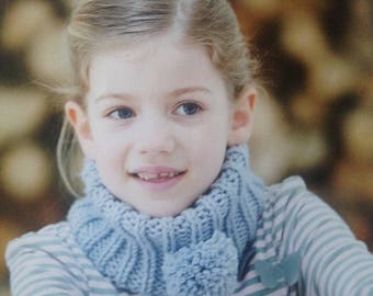 Easy Quick Pattern Childs Cowl Knitting Pattern Instant Download PDF Scarf