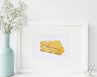 Mille Crepe - Mandie's Food Illustration Art Print