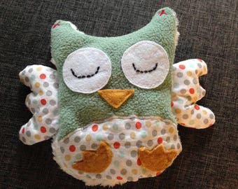 Plush Stuffed OWL rattle