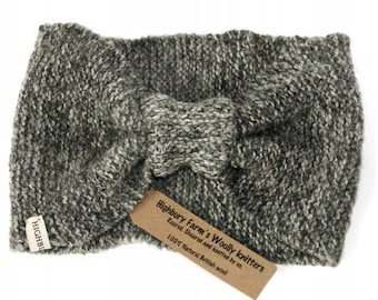 Ear-Warmer headband tonal fleck grey