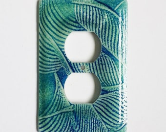 Fused Glass Outlet Cover