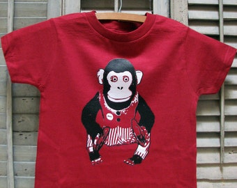 baby clothes - baby gift - toddler shirt - toddler tshirt - monkey baby - baby shower - childrens clothing - CLAPPING MONKEY - t shirt