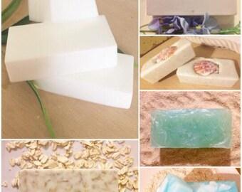 SET 3 Soaps + Scrub, Homemade samples,