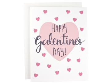 Happy Galentine's Day greeting card, Happy Valentines Day, friends, trendy, valentines day