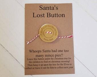 SALE-Santa's Lost Button