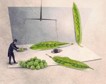 gardening, kitchen decor, gifts for gardener, kitchen art print, kitchen wall decor, kitchen wall art, kitchen art, french decor