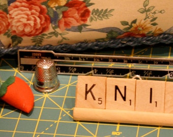 Sewing Quilting  Accessories, Art,Gift Sets, Scrabble Word Ornaments