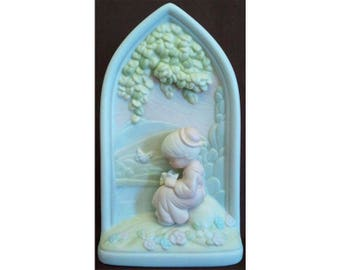 Precious Moments Seventh Beatitude Chapel Window Blessed Are the Peacemakers Signed Ltd Ed Ship 1995 Chapel Exclusive Enesco 523348 NIB