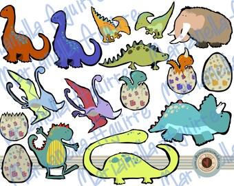 dinosaurs.CLIP ART .DIGITAL.
