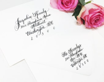 Wedding Calligraphy Envelope Addressing/Save the date Calligraphy/Envelope Addressing/ Hand Lettering/ Custom Wedding Address