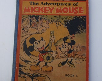 The Adventures of Mickey Mouse Book 1 by the Staff of Walt Disney Studio 1931