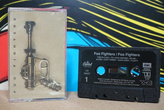 Foo Fighters by Foo Fighters Vintage Cassette Tape