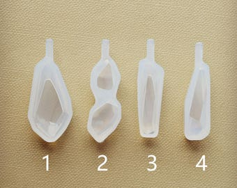 Irregular stone pendant Silicone Mold Resin Silicone Mould Jewelry Making epoxy resin molds Gem cut surface