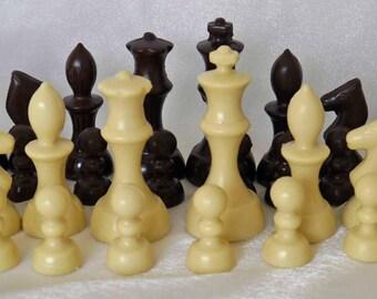 hand-made chocolate chess set