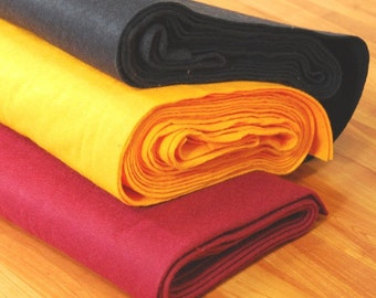 "Premium Wool Blend Felt by the Yard - 72"" Wide, Over 30 Colours Available"