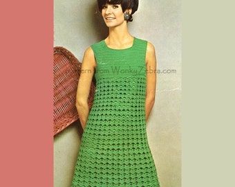 Crochet Dress Pattern 177 Vintage PDF Simply Dishy from WonkyZebra