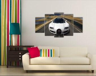 Cars, Bugatti Canvas, Veyron Wall Decor, Bugatti Veyron Prints, Bugatti  Poster,