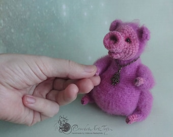 Crocheted pig, new year toy , Christmas gift, cute little pig, pig lover gift, christmas toy, new year gift, christmas decoration